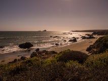 Beau paysage de littoral Pacifique, Big Sur Image libre de droits