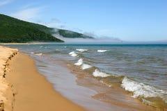 Beau paysage de mer et de sable Images stock