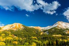 Beau paysage de montagne dans Aspen, tellurure, le Colorado image stock