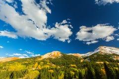 Beau paysage de montagne dans Aspen, tellurure, le Colorado photographie stock libre de droits