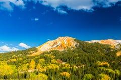 Beau paysage de montagne dans Aspen, tellurure, le Colorado photos libres de droits