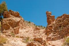Beau paysage de montagne dans l'Ouzbékistan photo stock