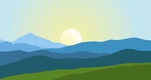 Beau paysage de montagne en été illustration de vecteur