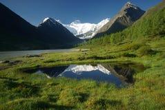 Beau paysage de montagne près du lac montagnes corses de montagne de lac de laque du creno de France de la Corse Genre de terrain Photographie stock libre de droits