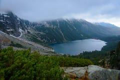 Beau paysage de Morskie Oko dans Zakopane Photos libres de droits