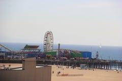 Beau paysage de Santa Monica, la Californie Photographie stock libre de droits
