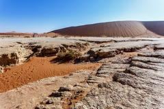Beau paysage de Sossusvlei de Death Valley Photographie stock libre de droits