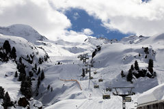 Station de sports d'hiver du Tyrol Photos stock