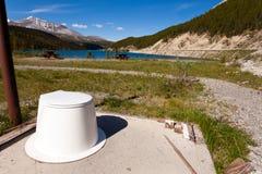 Beau paysage de toilette en plein air absurde de scène images libres de droits