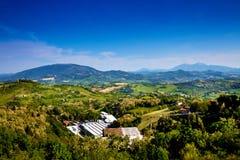 Beau paysage de Toscane Photographie stock
