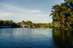 Beau paysage de visite de marais Images libres de droits