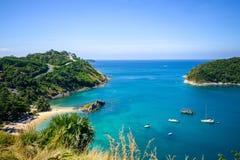 Beau paysage de vue courbe de l'île Photo stock
