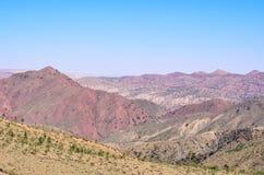 Beau paysage des montagnes d'atlas Photographie stock