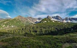 Beau paysage des montagnes de Tatra, une partie de la chaîne de montagne carpathienne en Europe de l'Est, entre la Slovaquie et l photographie stock libre de droits
