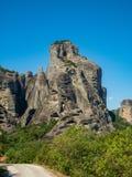 Beau paysage donnant sur la vall?e de la rivi?re Pinyos et les formations de roche dans les montagnes photo libre de droits