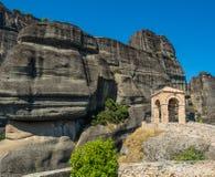 Beau paysage donnant sur les formations de roche dans les montagnes photographie stock