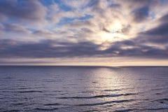 Beau paysage du bord de mer baltique Scène tranquille de mer baltique image stock