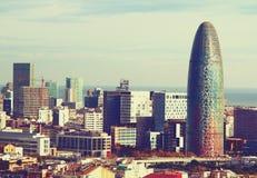 Beau paysage du centre de Barcelone Images libres de droits