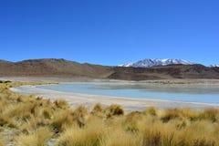 Beau paysage du lac blanc en Bolivie images libres de droits