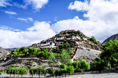Beau paysage du Thibet dans la porcelaine photographie stock libre de droits