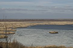 Beau paysage en Bulgarie du nord photo stock