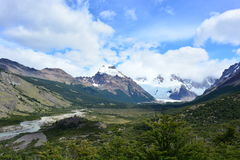 Beau paysage en parc national de visibilité directe Glaciares, EL Chaltén, Argentine images stock