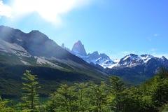 Beau paysage en parc national de visibilité directe Glaciares, EL Chaltén, Argentine Photo libre de droits