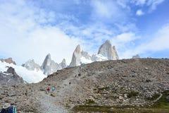 Beau paysage en parc national de visibilité directe Glaciares, EL Chaltén, Argentine Image stock