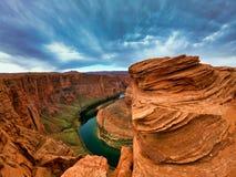 Beau paysage en Am?rique, canyon de mamie et skys bleus photographie stock