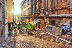 Beau paysage et vue urbaine de Budapest, rues, bui Photographie stock libre de droits
