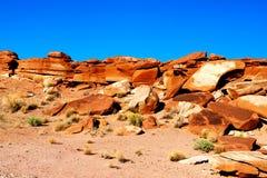 Beau paysage Grandes pierres oranges lumineuses Vue scénique L'Utah, Etats-Unis photos libres de droits