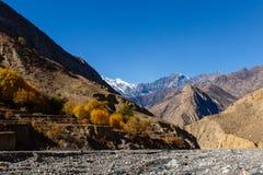 Beau paysage, Himalaya, Népal Photographie stock libre de droits