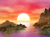 Beau paysage marin image libre de droits