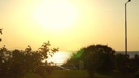 Beau paysage marin chaud de Timelapse banque de vidéos
