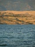 Beau paysage marin d'île de PAG Photographie stock