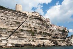 Beau paysage marin de Bonifacio en île de Corse Image stock