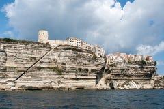 Beau paysage marin de Bonifacio en île de Corse Photos libres de droits
