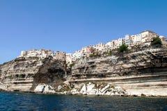 Beau paysage marin de Bonifacio en île de Corse Photographie stock