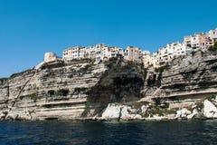 Beau paysage marin de Bonifacio en île de Corse Images stock