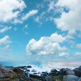 Beau paysage marin de matin Photographie stock libre de droits