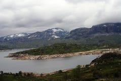 Beau paysage montagneux de la Norv?ge images libres de droits