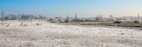 Beau paysage neigeux d'hiver Image stock