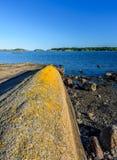 Beau paysage norvégien par l'océan dans Sandefjord, Norvège Photos stock