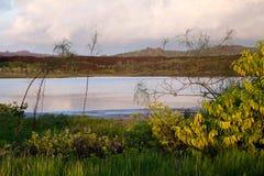 Beau paysage paisible d'île d'Espanola dedans Image stock