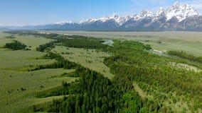 Beau paysage près du parc national de Yellowstone dans Wyomin Photographie stock