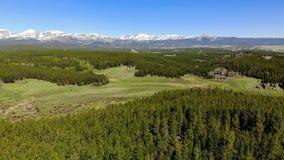 Beau paysage près du parc national de Yellowstone dans Wyomin Image libre de droits