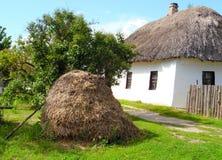 Beau paysage rural dans le village ukrainien image libre de droits