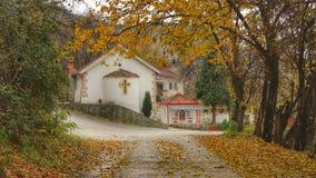 Beau paysage sur l'église orthodoxe Photos libres de droits