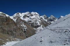 Beau paysage sur l'Annapurna rond Photo libre de droits