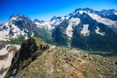 Beau paysage sur la montagne Photo libre de droits